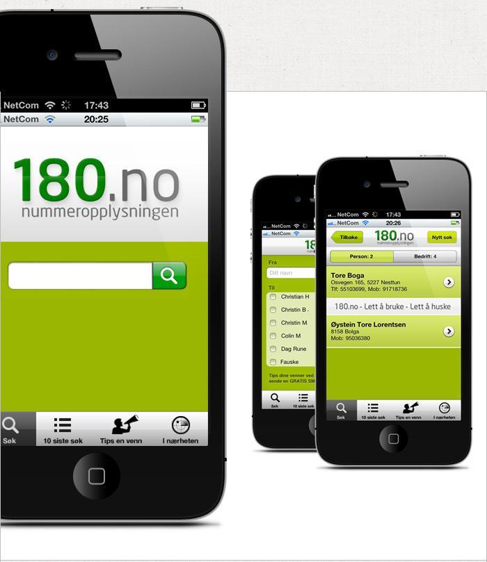180.no på iPhone